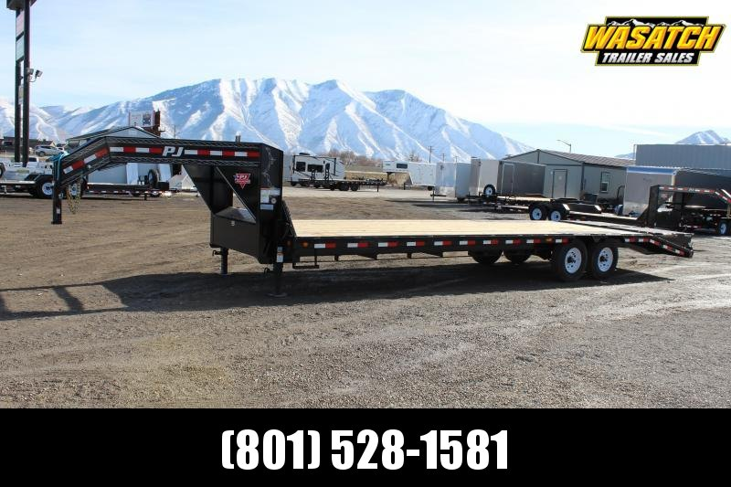 PJ Trailers 8.5x30 Low-Pro Flatdeck With Singles (LS) Flatbed Trailer