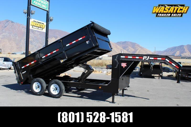 PJ Trailers 7x14 Low-Pro High Side (DM) Dump Trailer w/ 3' High Sides