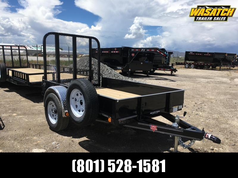 "PJ Trailers 60"" Single Axle Channel (U6) Utility w/ 12"" Solid Sides"