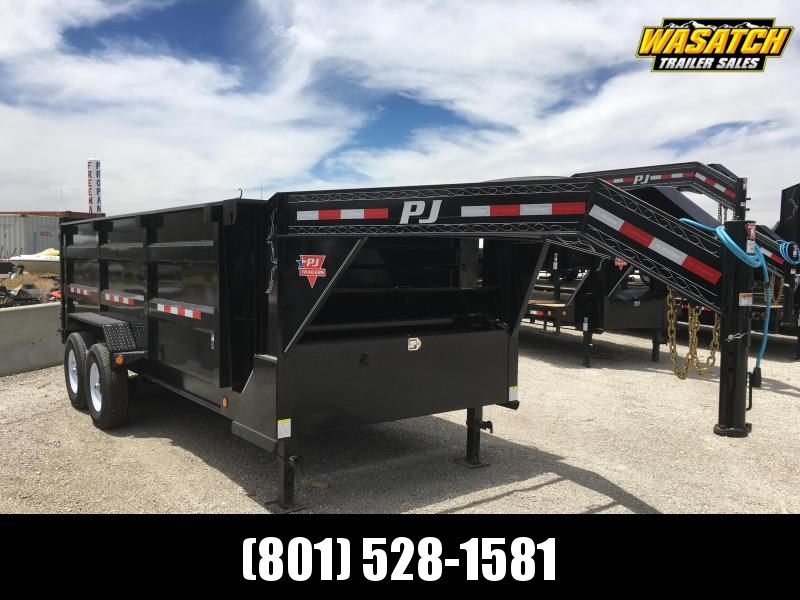 "PJ Trailers 83"" Low-Pro High Side (DM) Dump Trailer w/ 4' High Sides"