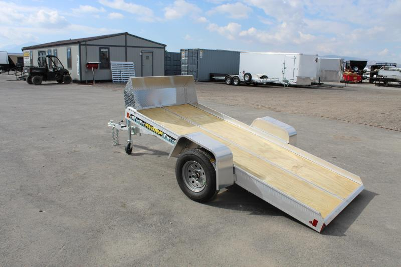 Aluma 8605FTILT Snowmobile Trailer w/ Rock Shield