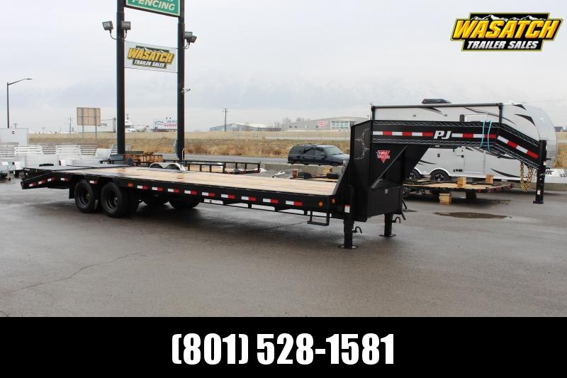 "PJ Trailers 8.5x30 14"" I-Beam Low-Pro With Duals (L3) Flatbed Trailer"