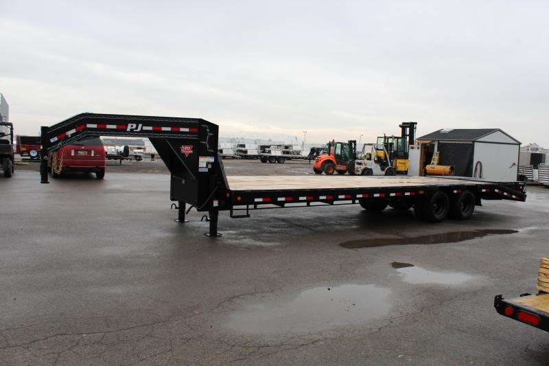 """PJ Trailers 8.5x30 14"""" I-Beam Low-Pro With Duals (L3) Flatbed Trailer"""