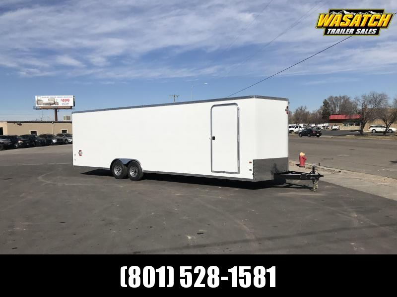 Charmac 100x28 Stealth Enclosed Steel Cargo w/ V-Nose