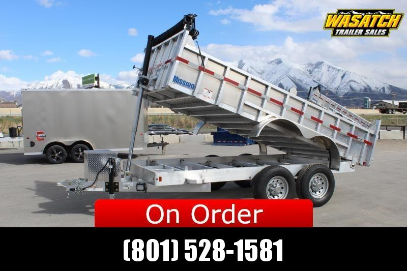 ***Mission 7x14 Aluminum Telescopic Dump Trailer***