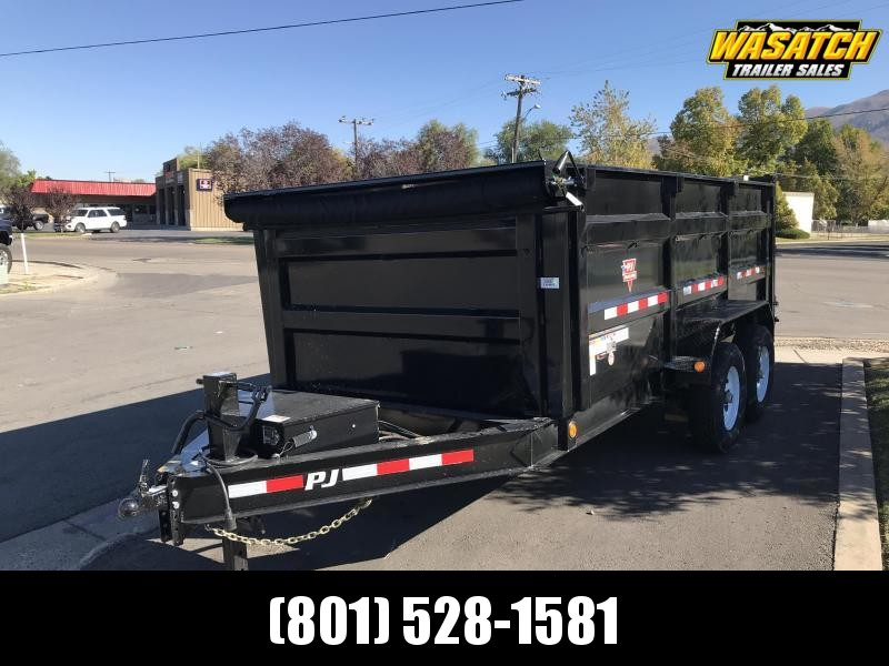 PJ Trailers 7x12 Low Pro High Side (DM) Dump w/ 4' High Sides