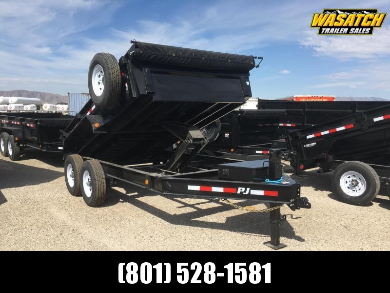 PJ Trailers 7x12 Low Pro (DL) Dump w/ 2' High Sides