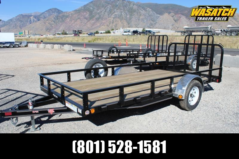 PJ Trailers 7x14 Single Axle Channel (U8) Utility Trailer