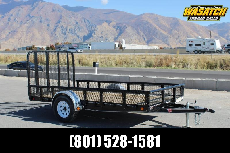 "PJ Trailers 6.5x12 Single Axle Channel (U7) Utility w/ 12"" Expanded Metal Sides"