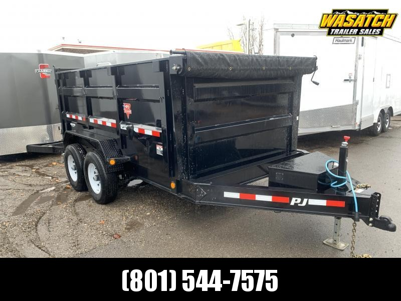 2020 PJ Trailers 7x12 Low Pro High Side Dump (DM) Dump Trailer