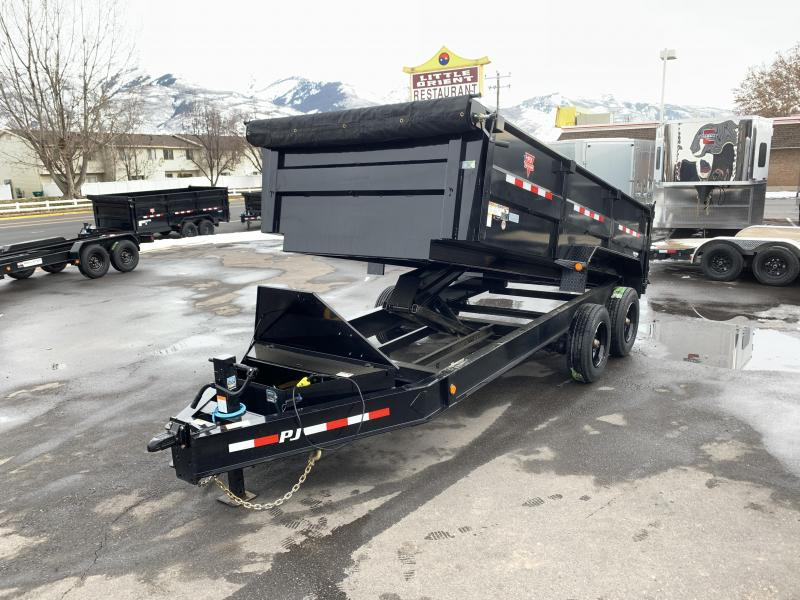 PJ 7x16 HD Low-Pro (DE) Dump Trailer