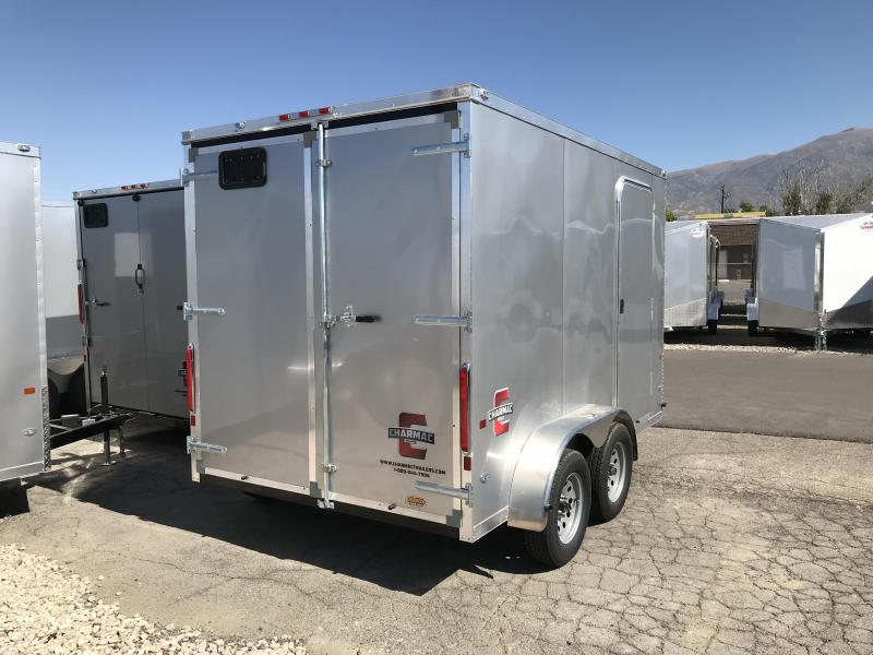 Charmac 7x12 Stealth Enclosed Steel Cargo w/ V-nose