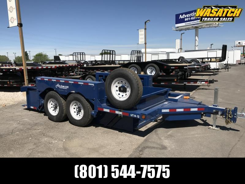 Air Tow UT14-12 Ground-Level Loading Tandem Axle Utility Trailer