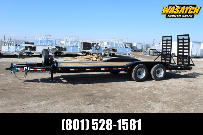 "PJ Trailers 8.5x22 10"" Pro-Beam Super-Wide (H7) Equipment Trailer 20k GVWR"