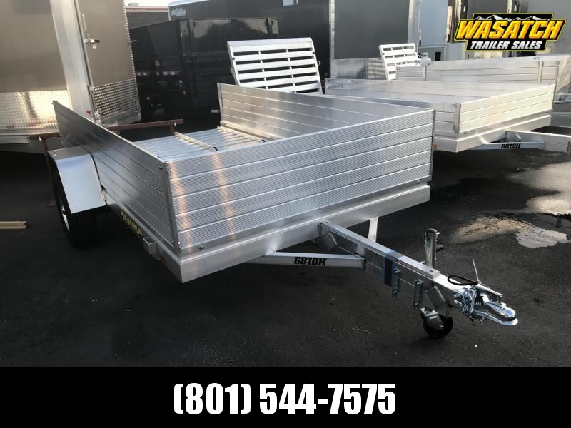 """Aluma 6810H Utility Trailer with 24"""" Solid Sides"""