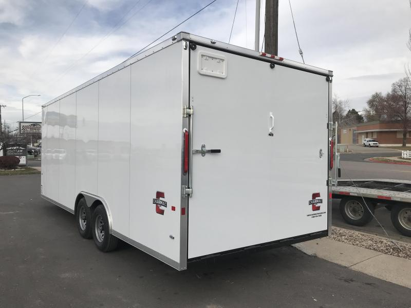 Charmac 100x22 Stealth Enclosed Steel Cargo w/ V-Nose