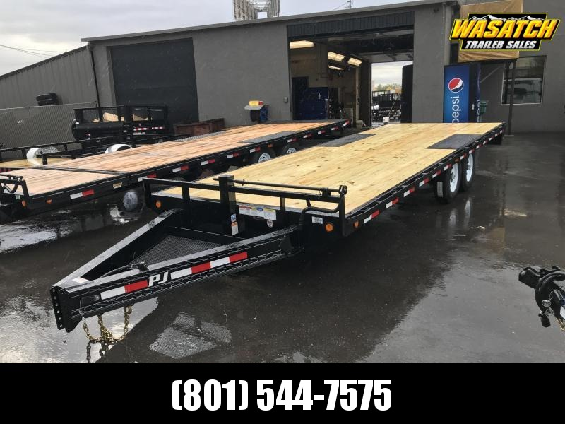 PJ 24ft - 8 in. I-Beam Deckover (F8) Flatbed Trailer