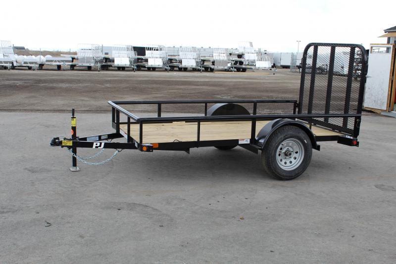 "PJ Trailers 60""x10' Single Axle Angle (E6) Utility Trailer"