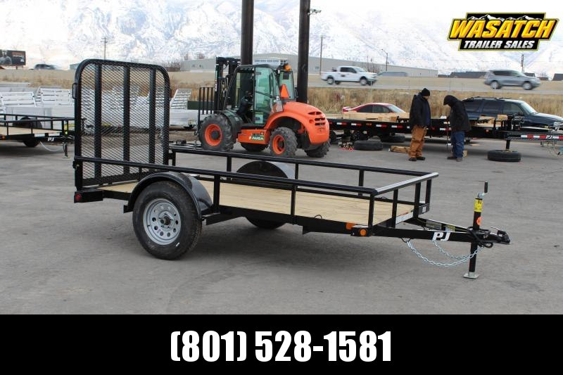 "PJ Trailers 60""x10' Single Axle Angle (E6) Utility Trailer"