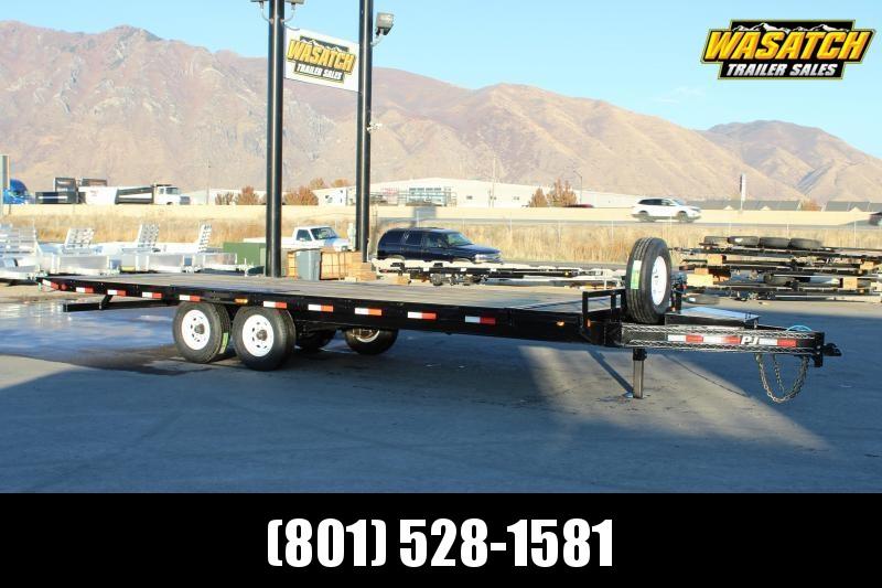 PJ Trailers 8.5x24 Deckover Tilt (T8) Equipment Trailer
