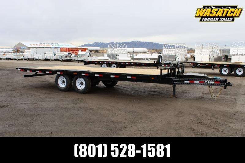 PJ Trailers 8.5x22 Deckover Tilt (T8) Equipment Trailer