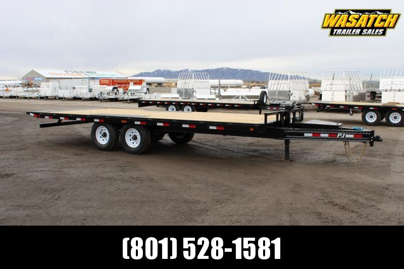PJ Trailers 8.5x22 Deckover Tilt (T8) Equipment Trailer