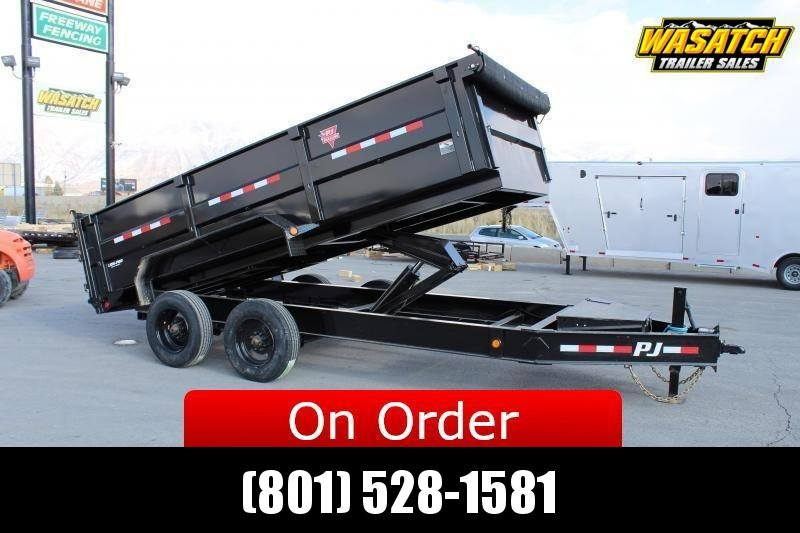 ***PJ Trailers 7x16 HD Low-Pro (DE) Dump Trailer 20k GVWR***