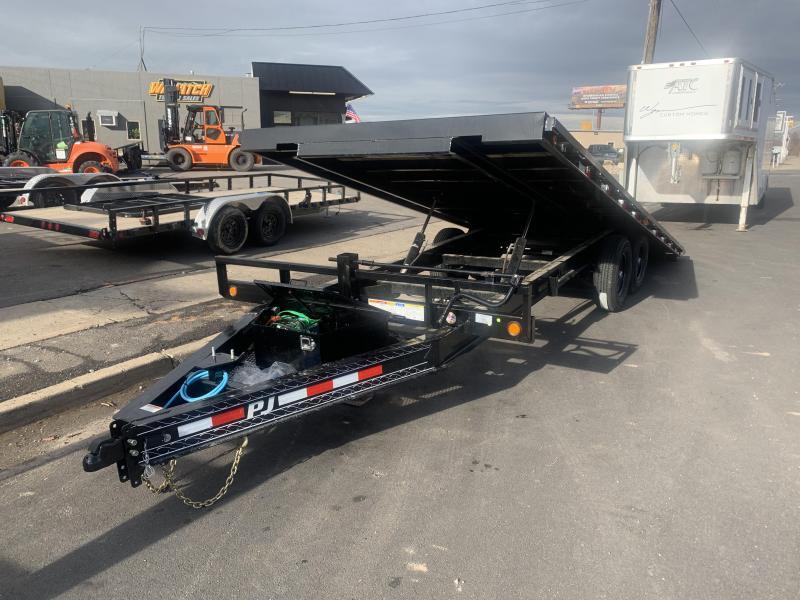 2020 PJ Trailers 22 ft - Deckover Tilt (T8) Equipment Trailer