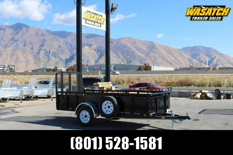 "PJ Trailers 5x12 Single Axle Channel (U6) Utility w/ 24"" Solid Sides"