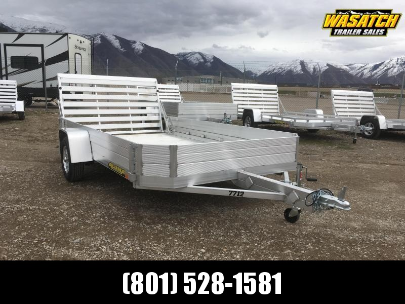 "Aluma 6.5x12 Utility Trailer w/ 12"" Solid Side"