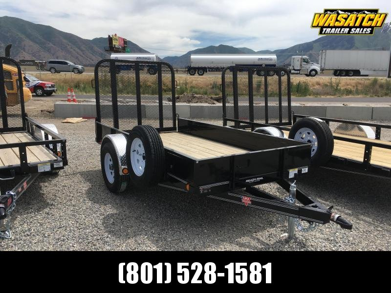 "Pj Trailers 5x10 Single Axle Channel (U6) Utility w/ 12"" Solid Sides"