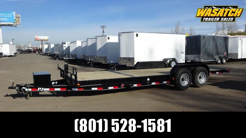 PJ Trailers 7x22 6 in. Channel Tilt (T6) Equipment Trailer