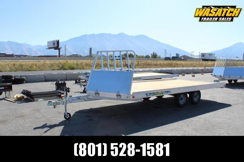 Aluma 8614D Snowmobile Trailer w/ Rock Shield