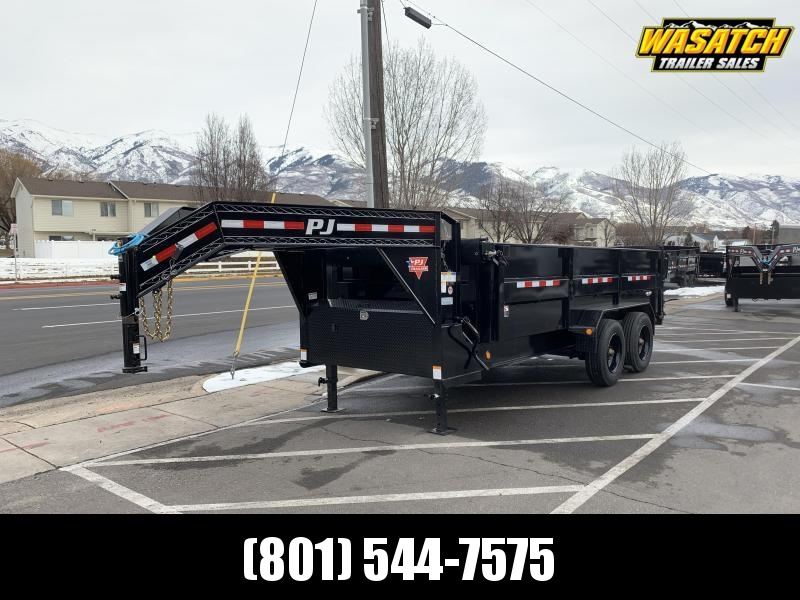 2020 PJ Trailers 16 ft HD Low-Pro (DE) Dump Trailer