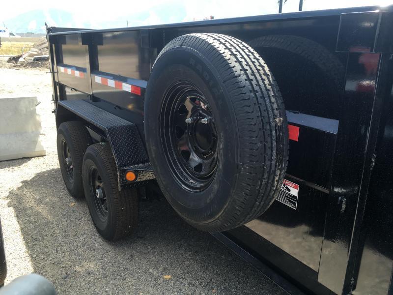 PJ Trailers 7x14 Low Pro High Side (DM) Dump 3' High Sides