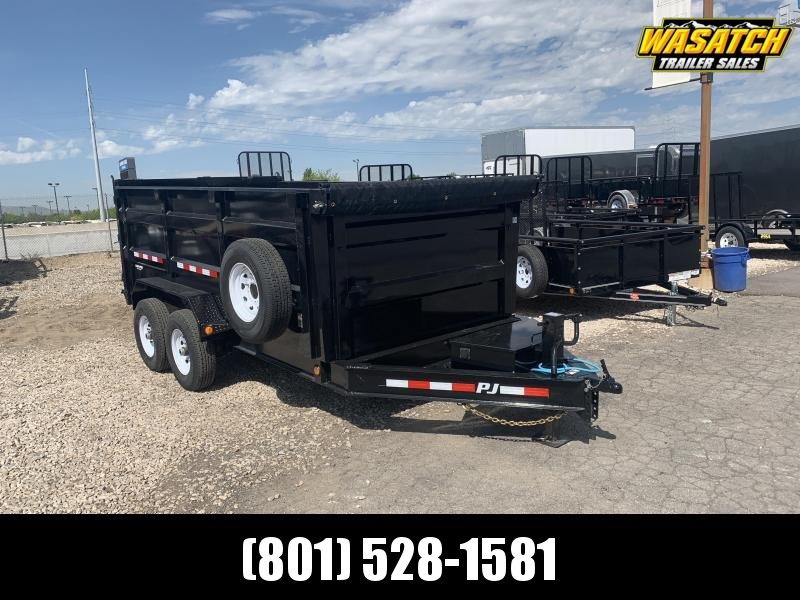 PJ Trailers 7x14 Low Pro High Side (DM) Dump 4' High Sides