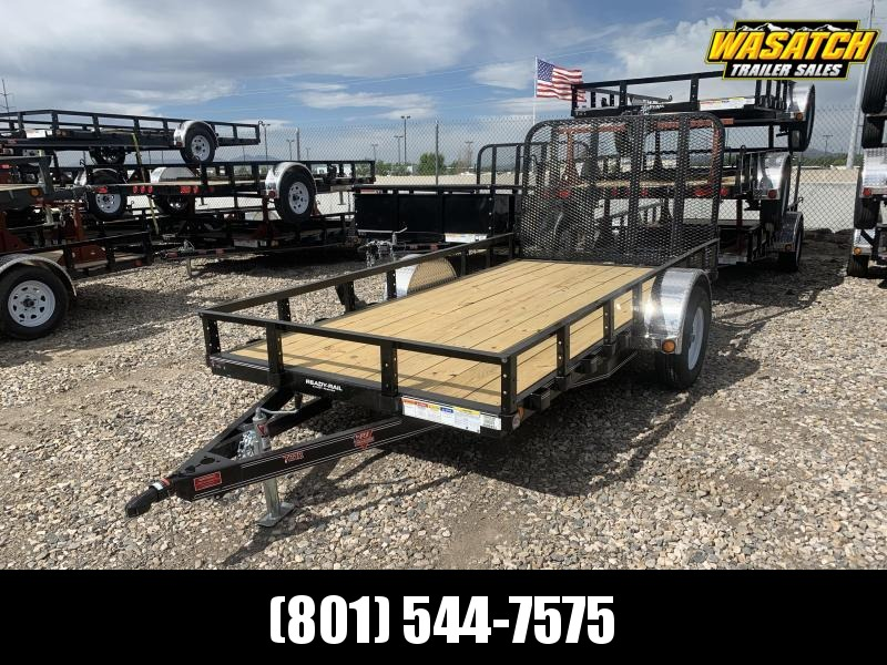 "2019 PJ Trailers 12'x72"" Single Axle Channel Utility Trailer"