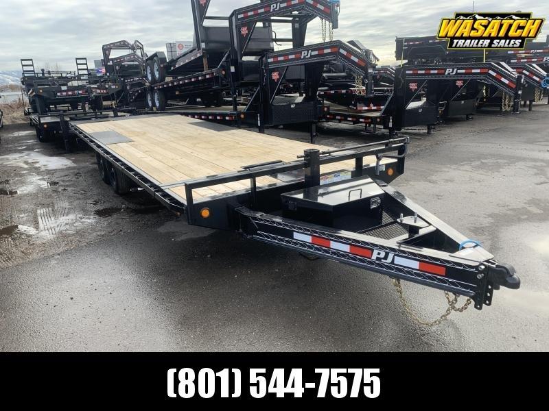 2020 PJ Trailers 24 ft - Deckover Tilt (T8) Equipment Trailer