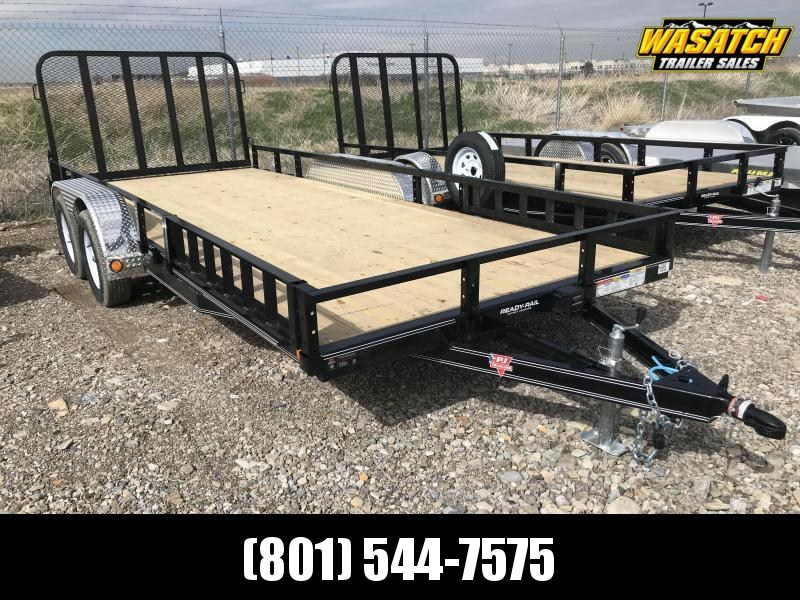 PJ 7x18 Tandem Axle Channel (UL) Utility Trailer