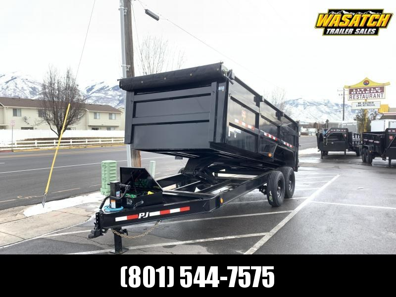 2020 PJ Trailers 16 ft - 83 Low Pro High Side Dump (DM) Dump Trailer