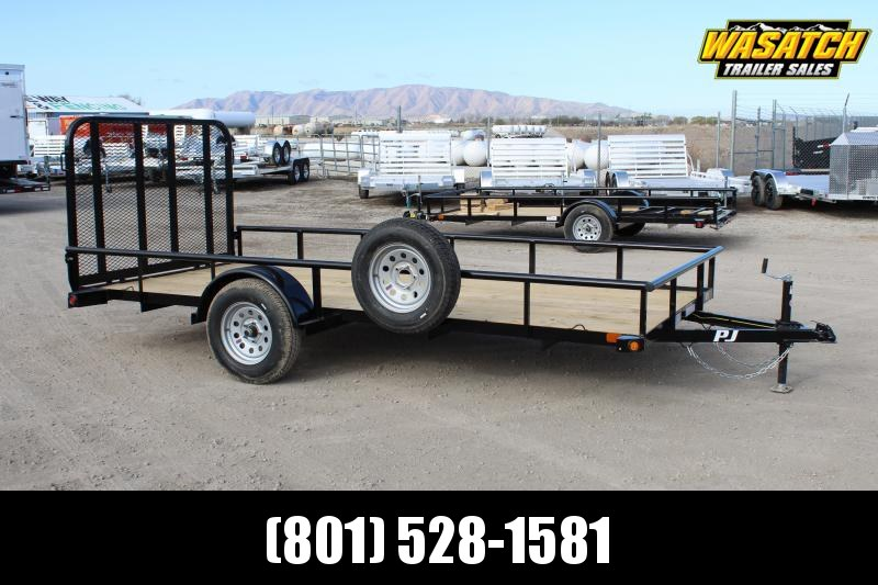 ***PJ Trailers 6.5x14 Single Axle Angle (E7) Utility Trailer w/ Spare Tire***