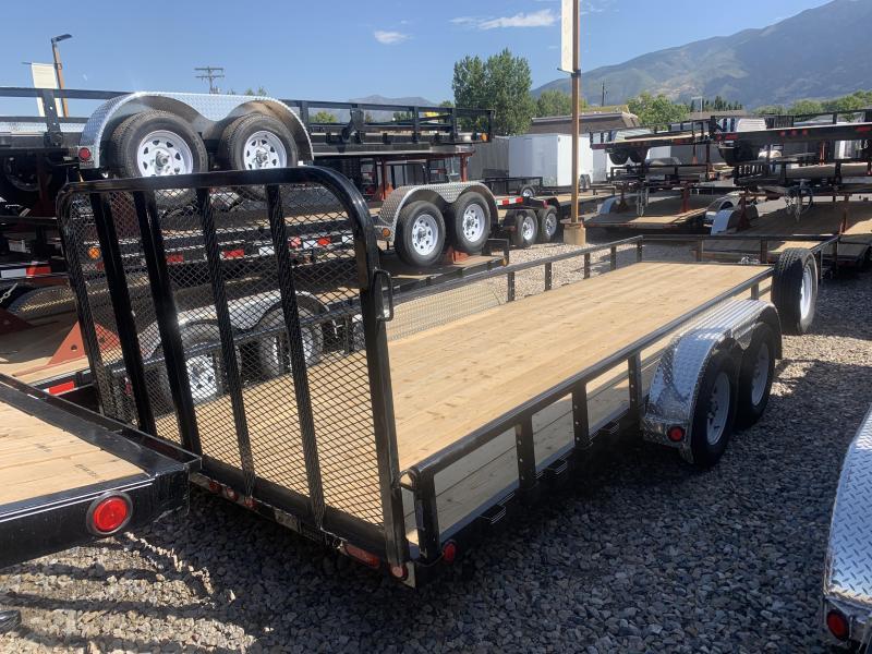 2020 PJ Trailers 83 in. Tandem Axle Channel Utility (UL) ATV Trailer