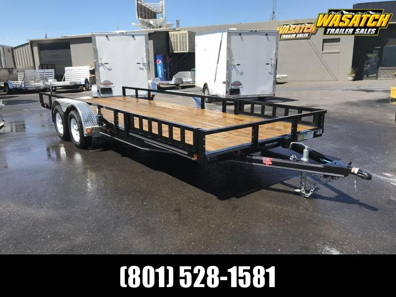 PJ Trailers 7x20 Tandem Axle Channel (UL) Utility Trailer