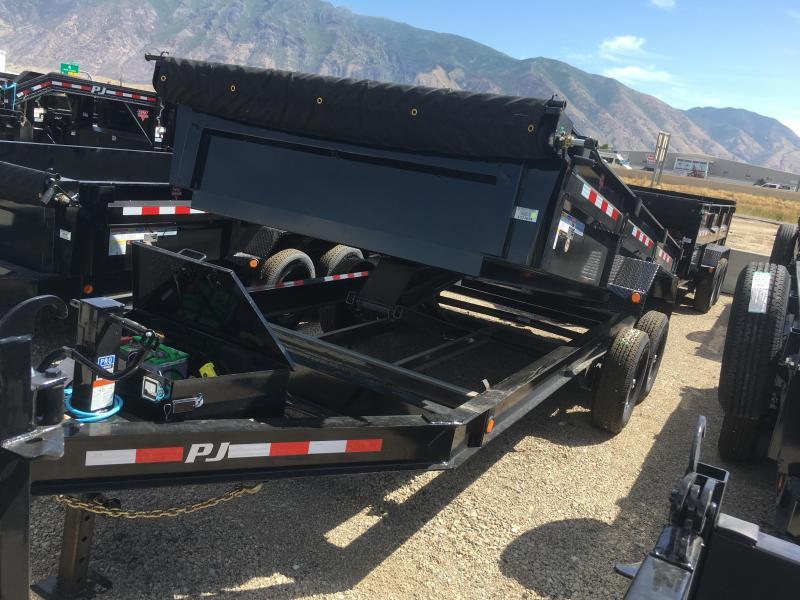 "PJ Trailers 7x16 Low Pro (DL) Dump w/ 24"" High Sides"