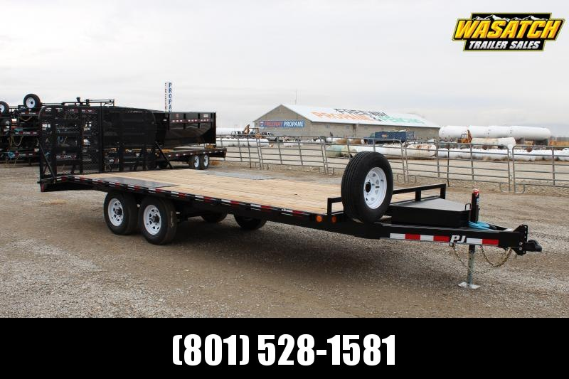 "PJ Trailers 8.5x20 Medium Duty Deckover 6"" Channel (L6) Flatbed Trailer"