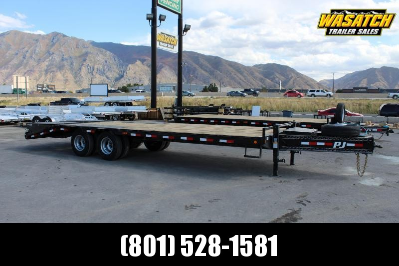 PJ Trailers 8.5x25 Low-Pro Pintle With Duals (PL) Flatbed Trailer