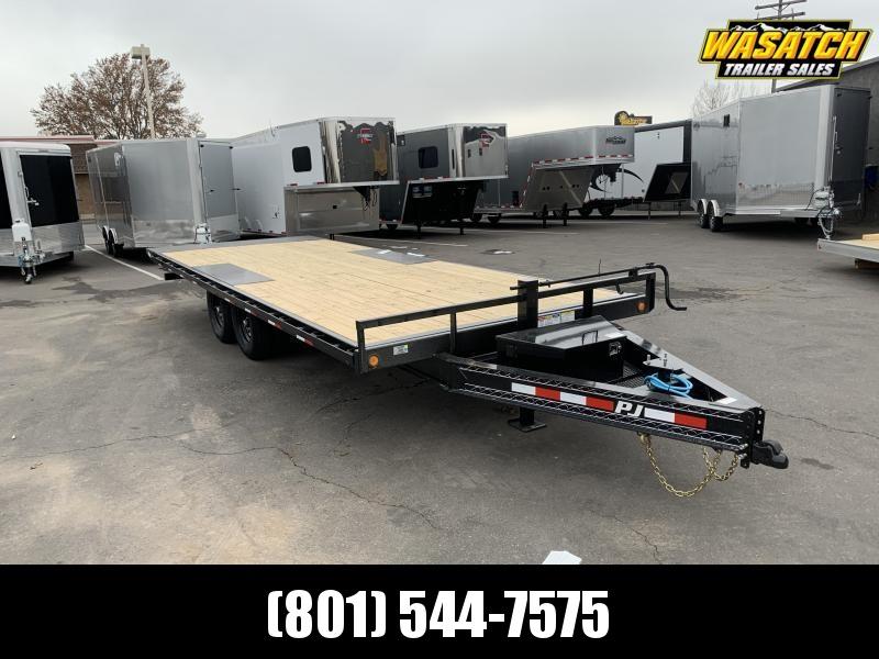 2020 PJ Trailers 22 ft Deckover Tilt (T8) Equipment Trailer