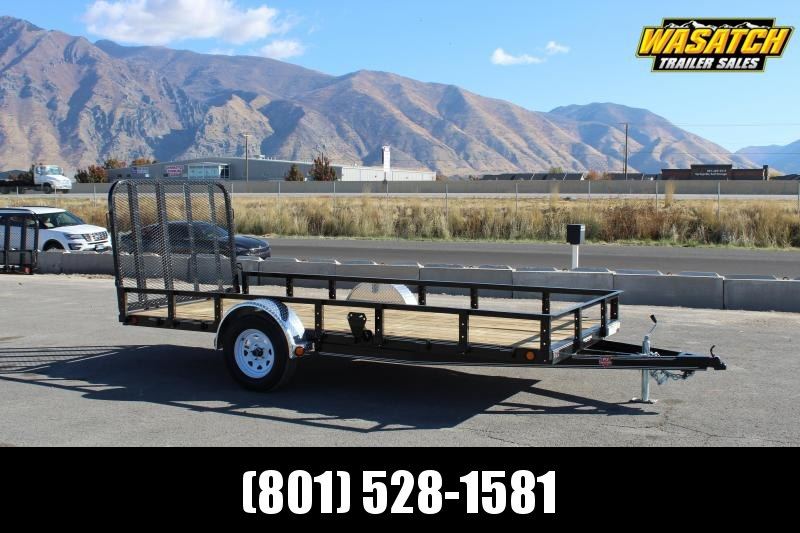 PJ Trailers 6x14 Single Axle Channel (U2) Utility Trailer