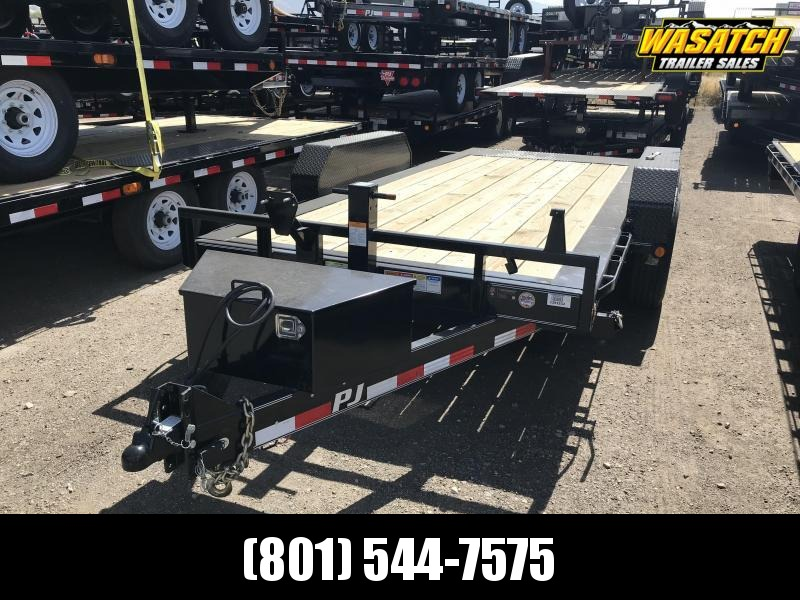 2018 PJ Trailers 16ft - HD Equipment Tilt 6 in. Channel (TJ) Equipment Trailer