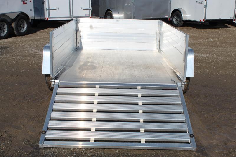 "Aluma 63""x8' Aluminum Utility Trailer w/ 24"" Solid Sides"